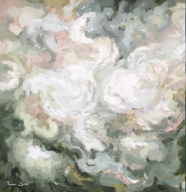 ציור אבסטרקט ירוק