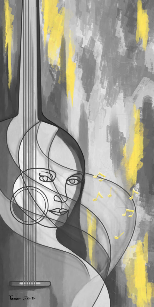 ציור אני גיטרה