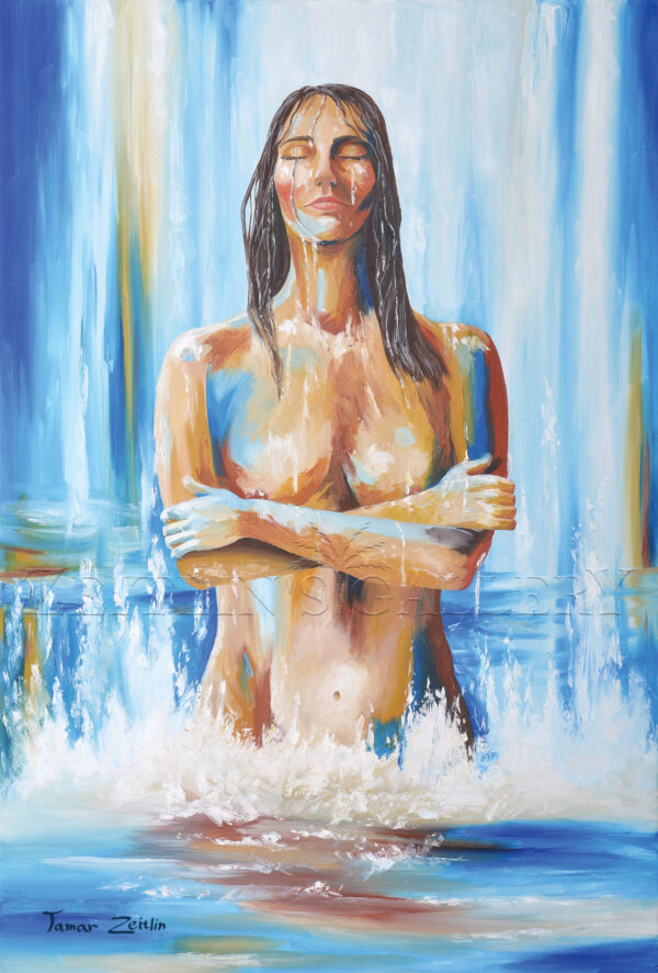 ציור אישה טובלת במקווה