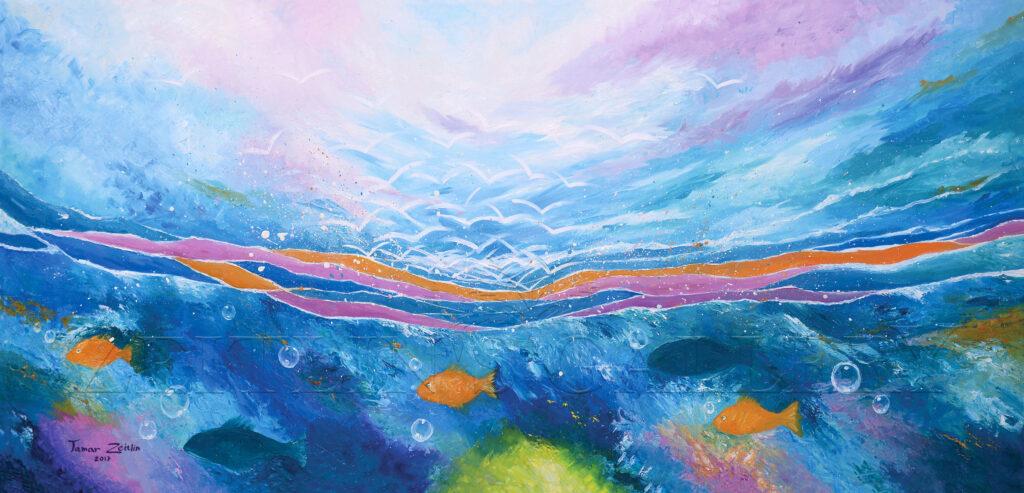 ציור של ים ושמיים
