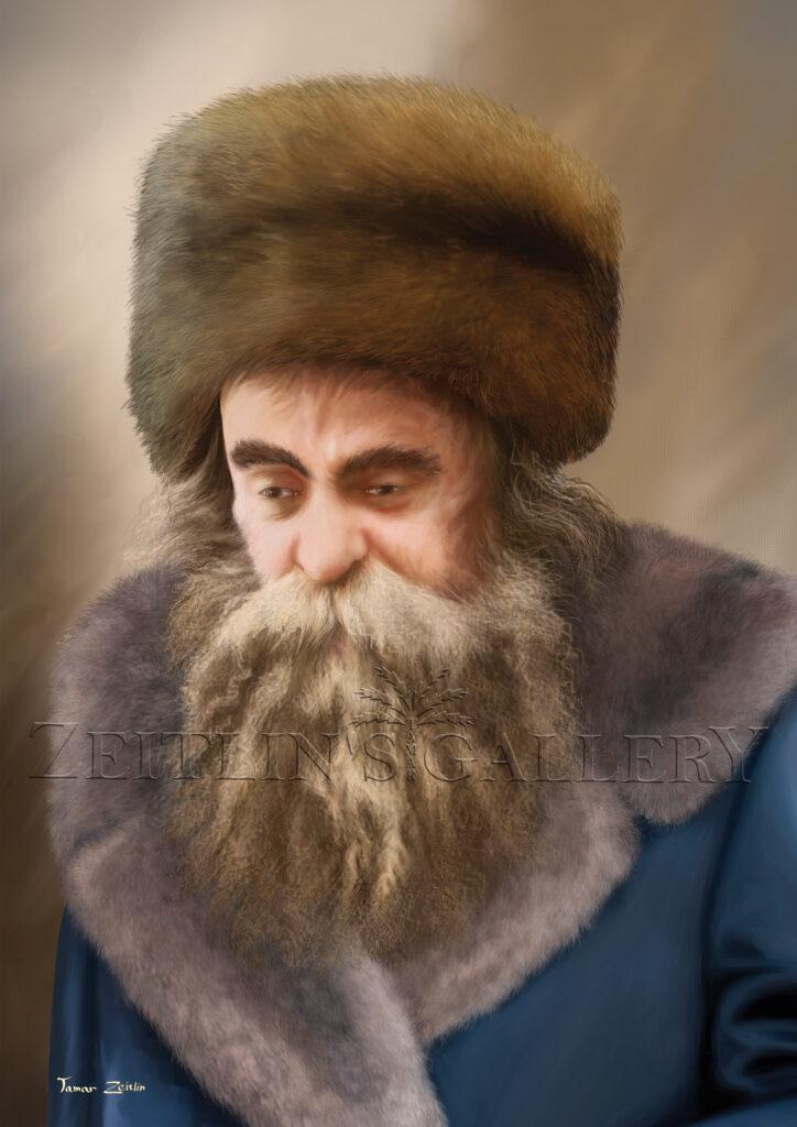 ציור רבי אהרן מבעלזא