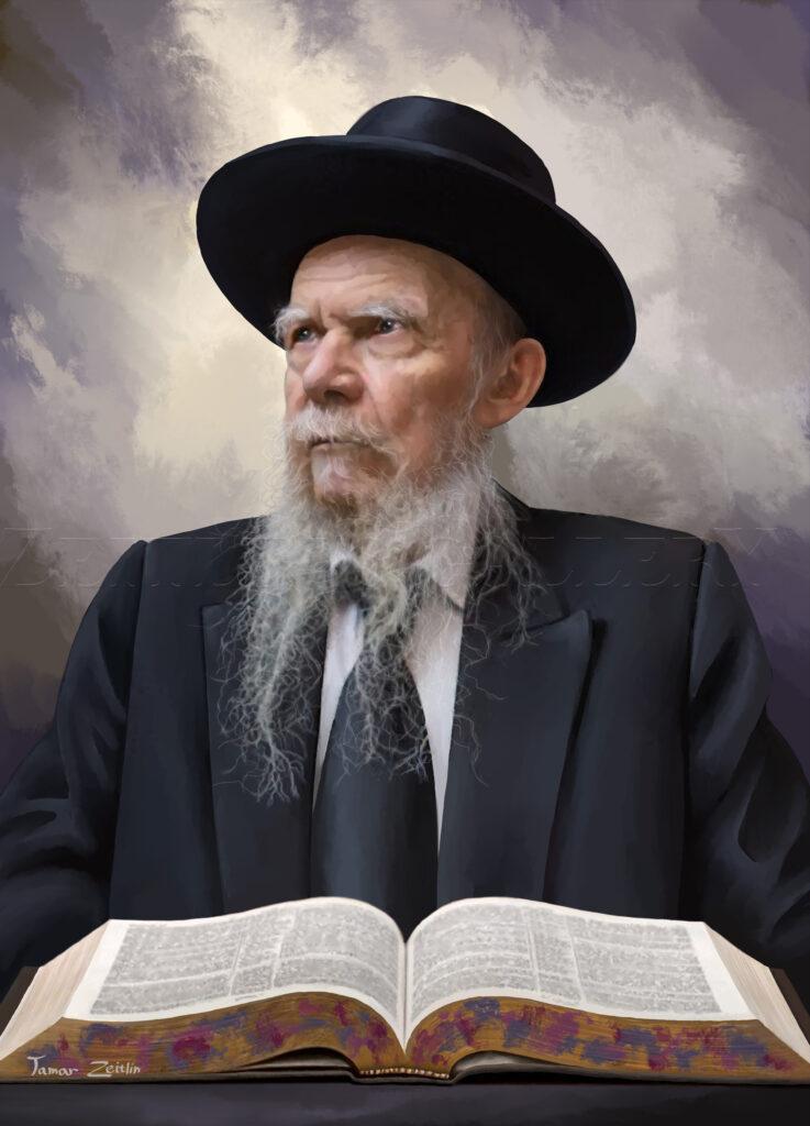 ציור הרב אדלשטיין ללא מסגרת