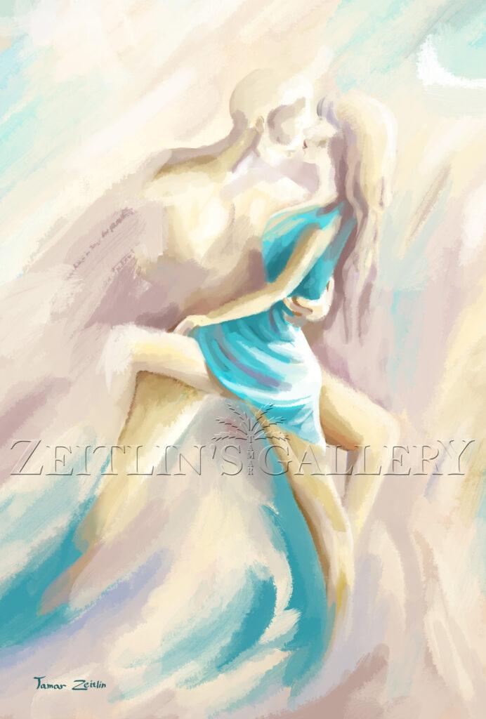 ציור זוג רוקד