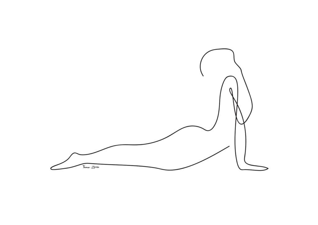 ציור יוגה תנוחת קוברה