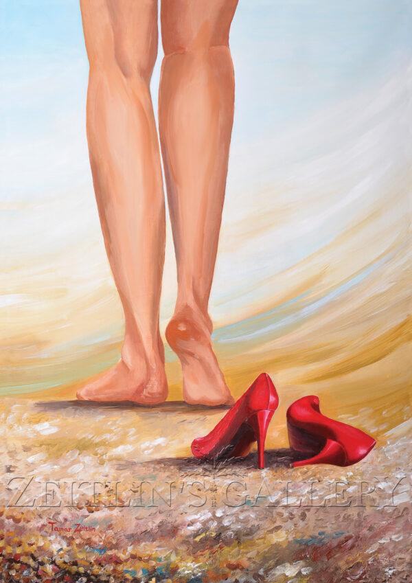 ציור נעליים אדומות