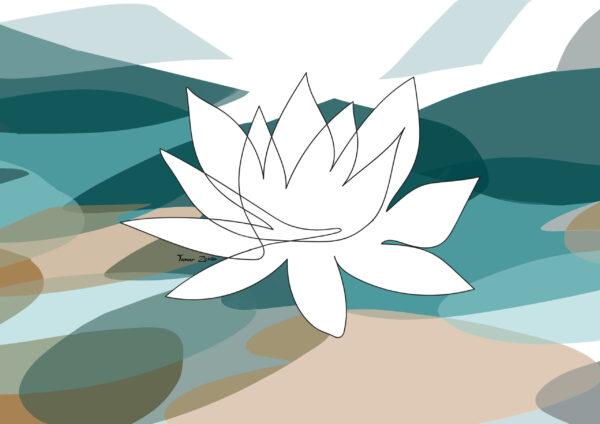 ציור פרח הלוטוס