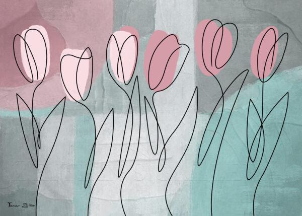 ציור צבעוניים בסגנון נורדי
