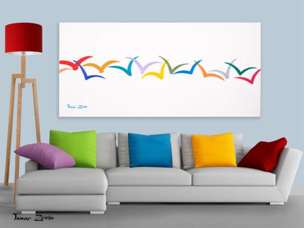 הדמיה ציפורים צבעוניות 3