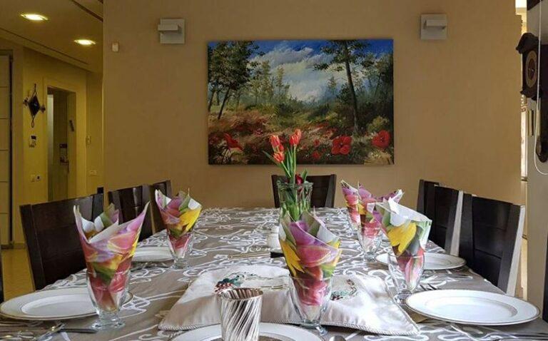 ציור ושולחן השבת